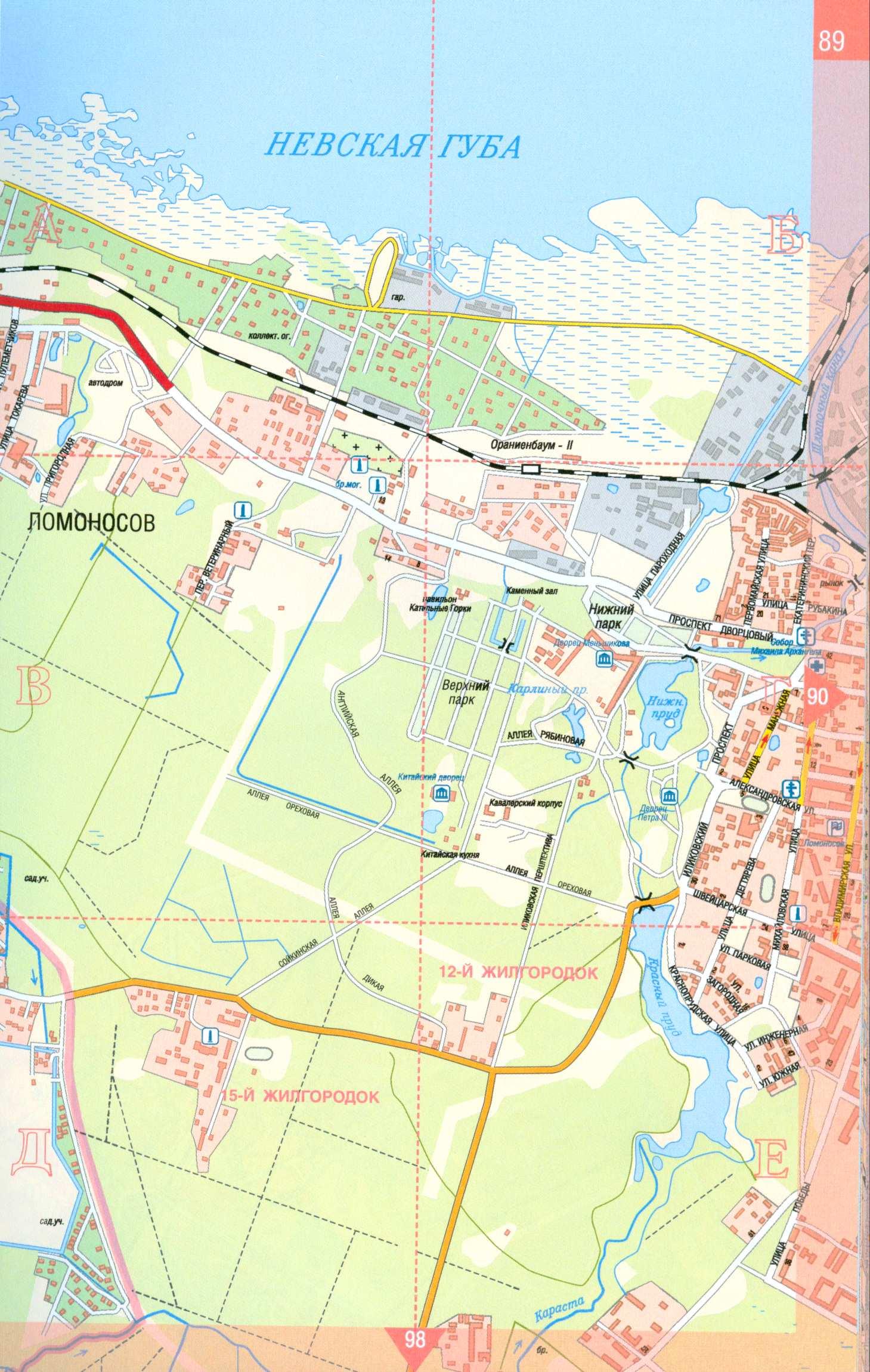 подробная карта питербурга: