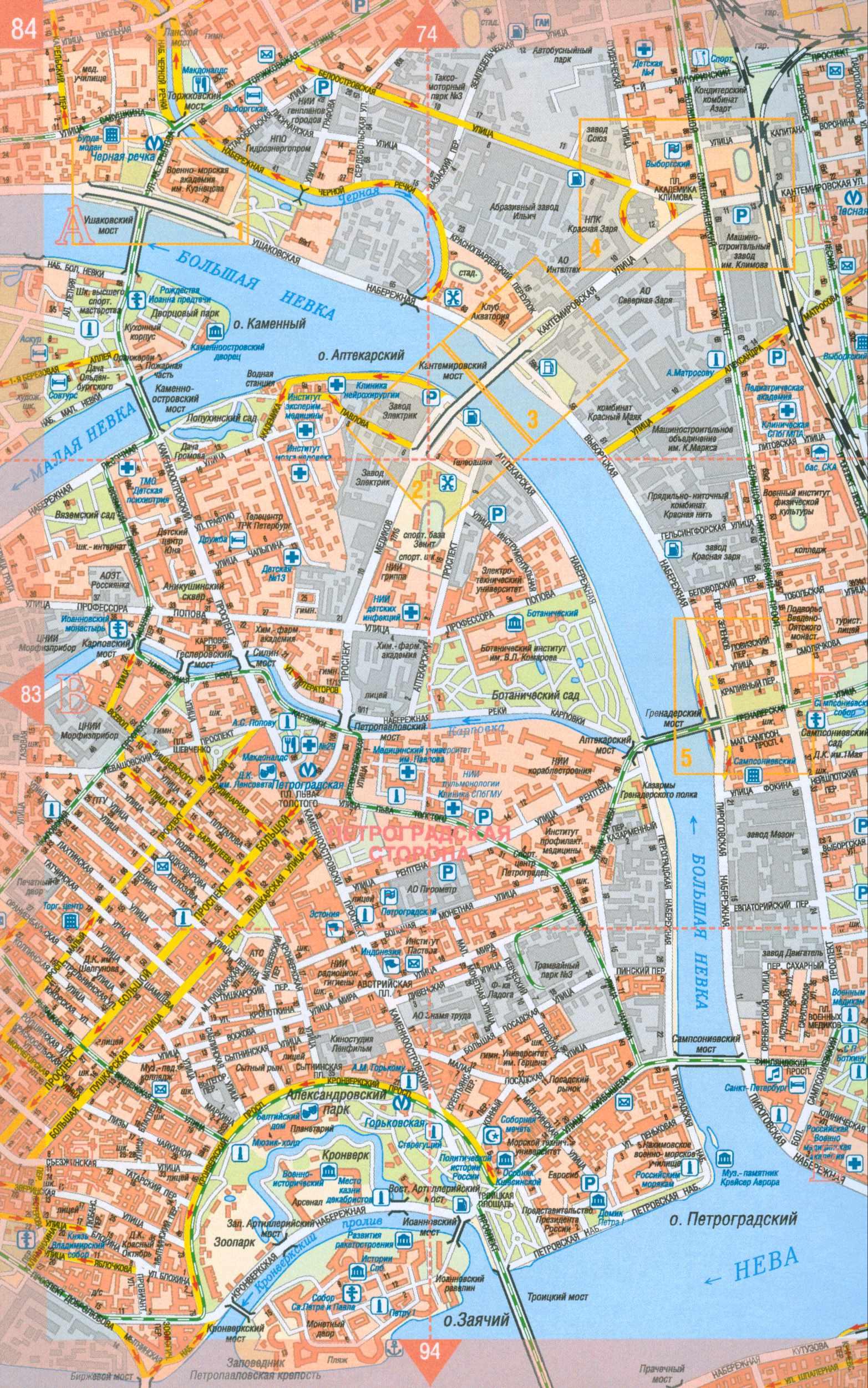 Карта Симферополя С Улицами И Домами