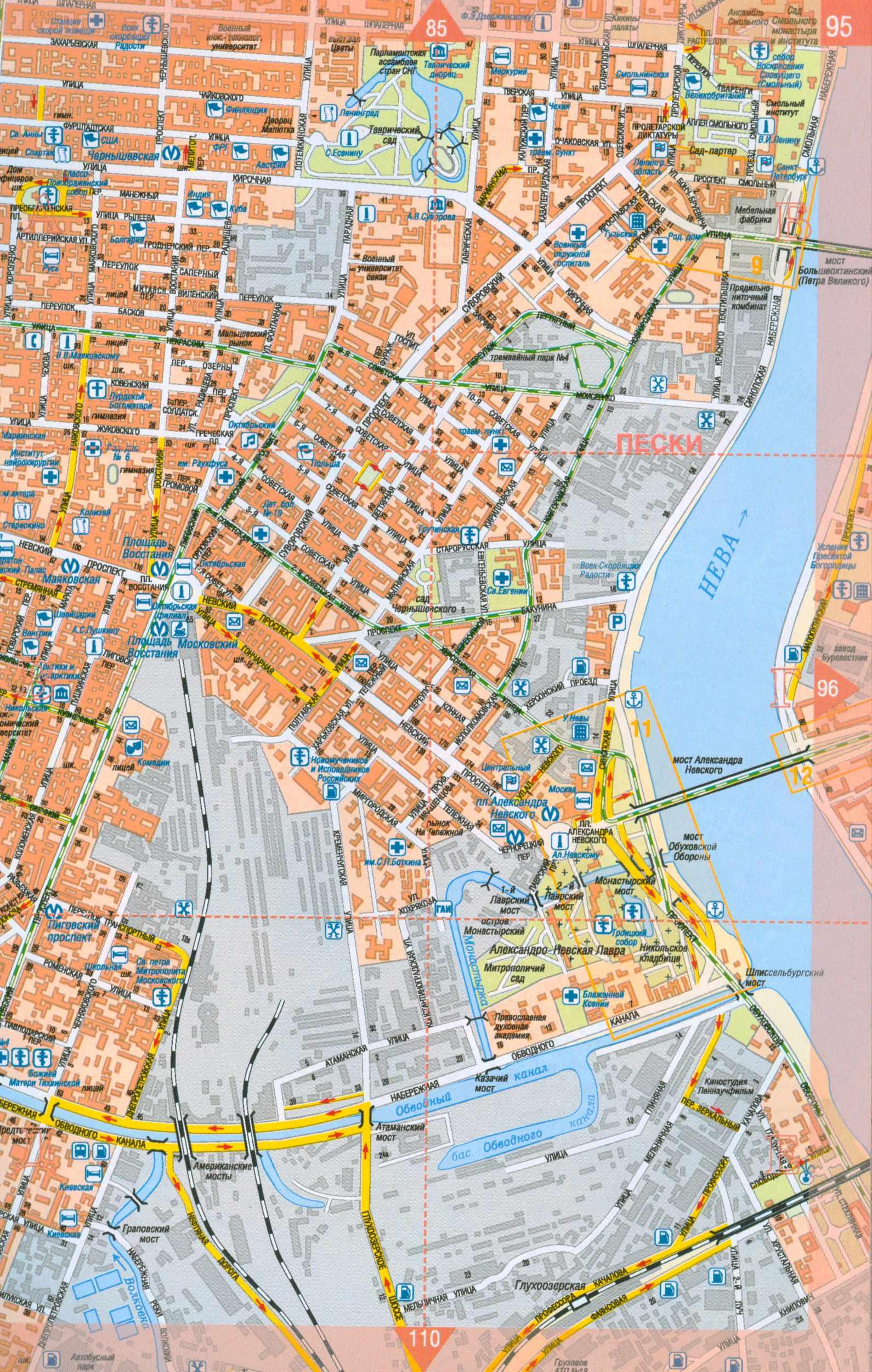 Карта Ярославля с поиском улиц и домов