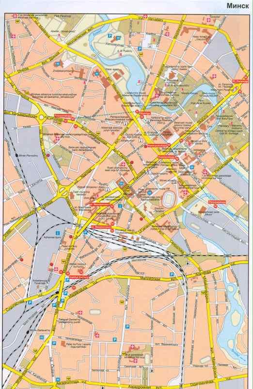 электронная карта города Минск